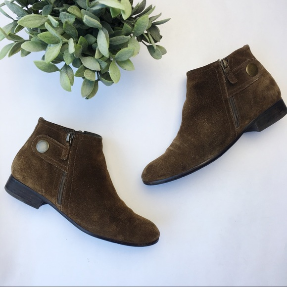 Franco Sarto Shoes - Franco Sarto suede ankle bootie low heel